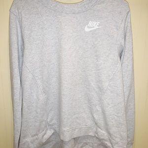 Grey Nike Crewneck Long Sleeve Sweatshirt